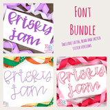 Frisky Jam Embroidery Font Bundle
