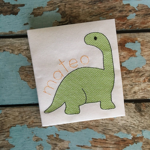 Dino 2 Sketch Embroidery Design, Embroidery