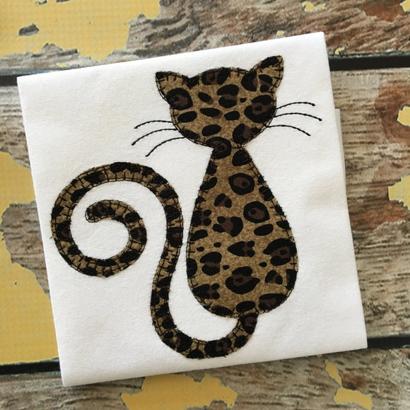 Cat Blanket Stitch Applique Design, Applique