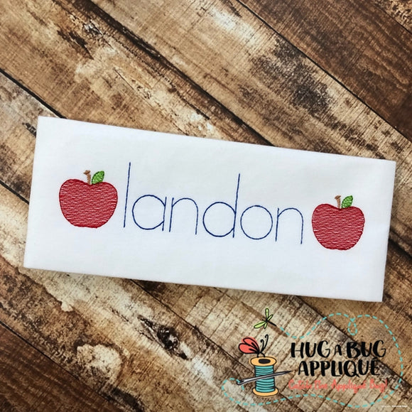 Apple Mini Sketch Embroidery Design, Embroidery