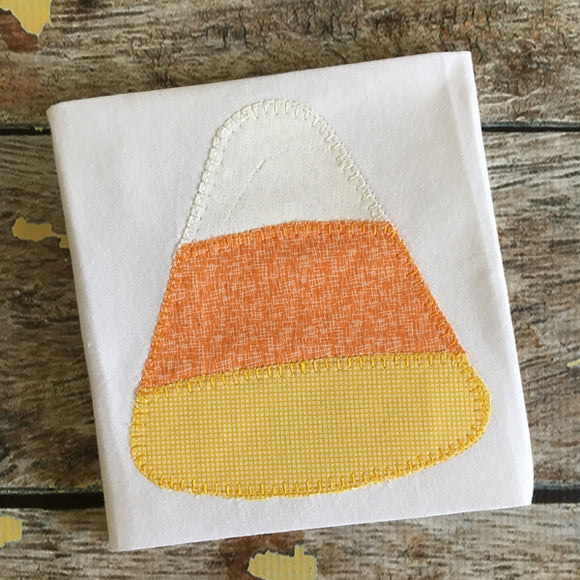 Candy Corn Blanket Stitch Applique Design, Applique