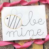 Be Mine Bee Scribble Stitch Embroidery Design, Embroidery