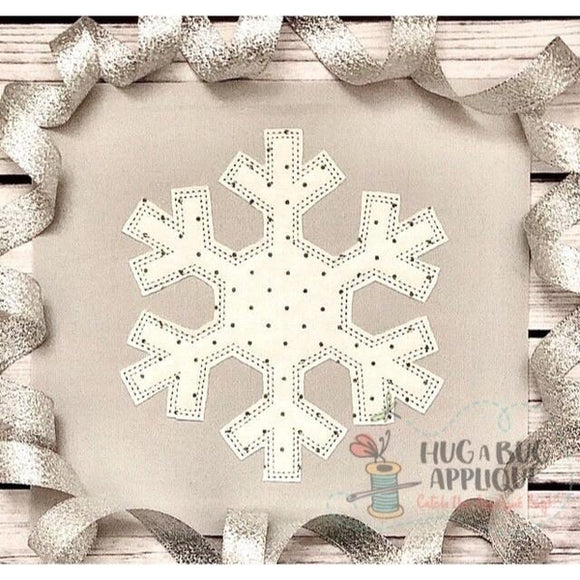 Snowflake 1 Bean Stitch Applique Design, Applique