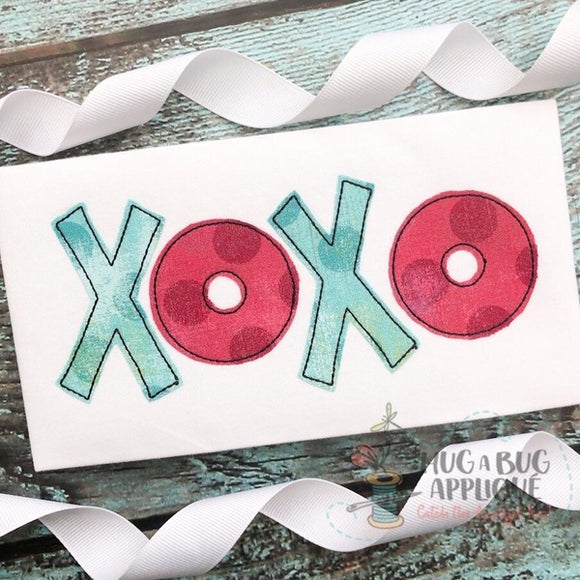 XOXO Bean Applique Design, Applique
