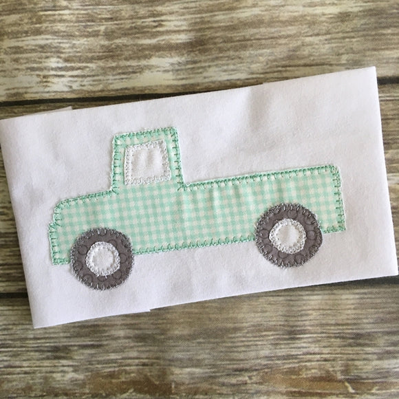 Truck Blanket Stitch Applique Design, Applique