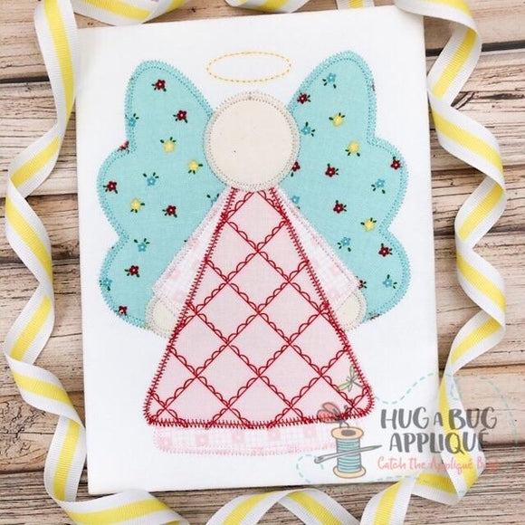 Angel Zig Zag Stitch Applique Design, Applique