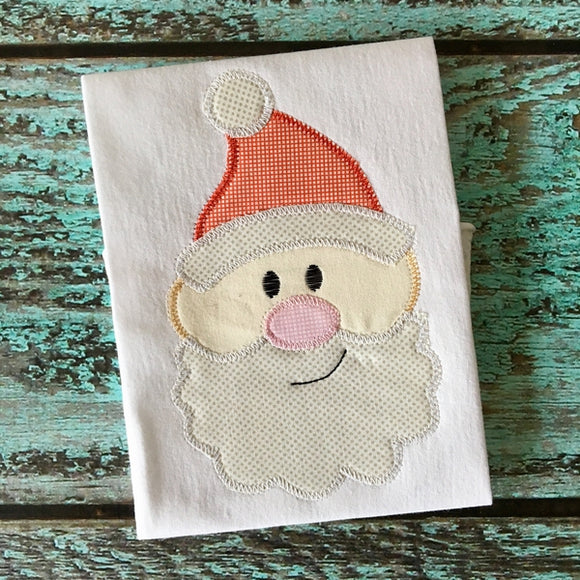 Santa Face Zig Zag Stitch Applique Design, Applique