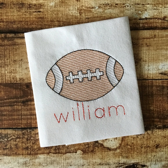 Football Sketch Embroidery Design, Embroidery