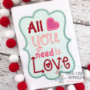 All You Need Applique Design, Applique