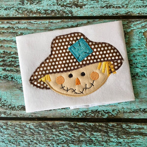 Scarecrow Zig Zag Stitch Applique Design, Applique