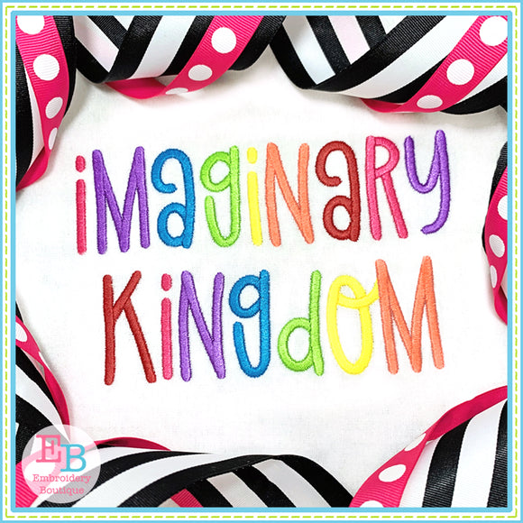 Imaginary Kingdom Embroidery Font, Embroidery Font