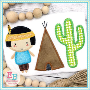 Indian Boy Trio Applique