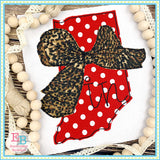 Big Bow Indiana Bean Stitch Applique, Applique
