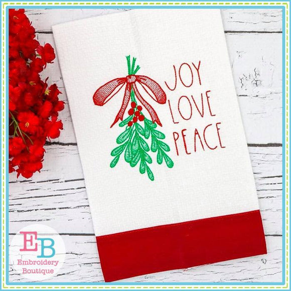 Joy Love Peace Design - embroidery-boutique