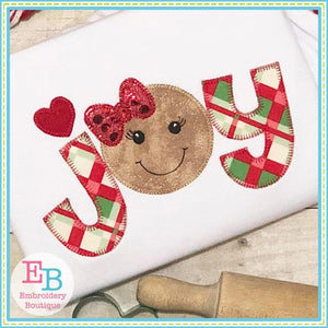 Joy Ginger Blanket Stitch Applique - embroidery-boutique