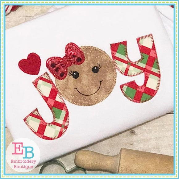 Joy Ginger Blanket Stitch Applique