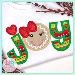 Joy Ginger Applique - embroidery-boutique