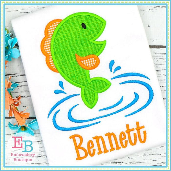 Jumping Fish Satin Applique