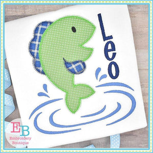 Jumping Fish Zigzag Applique