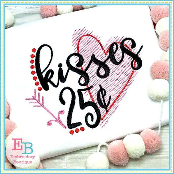 Kisses 25 Cents Design - embroidery-boutique