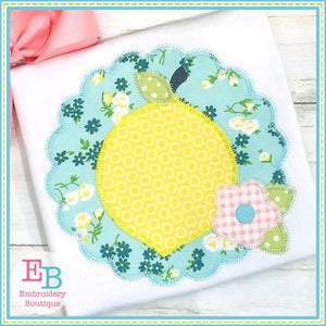 Lemon Scallop Zigzag Applique