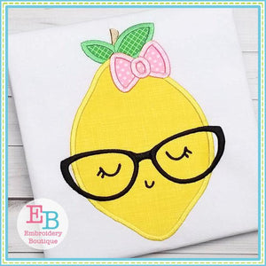 Lemon Glasses Applique - Embroidery Boutique