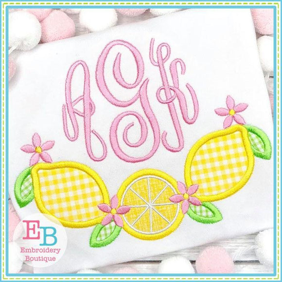 Lemon Swag Applique, Applique