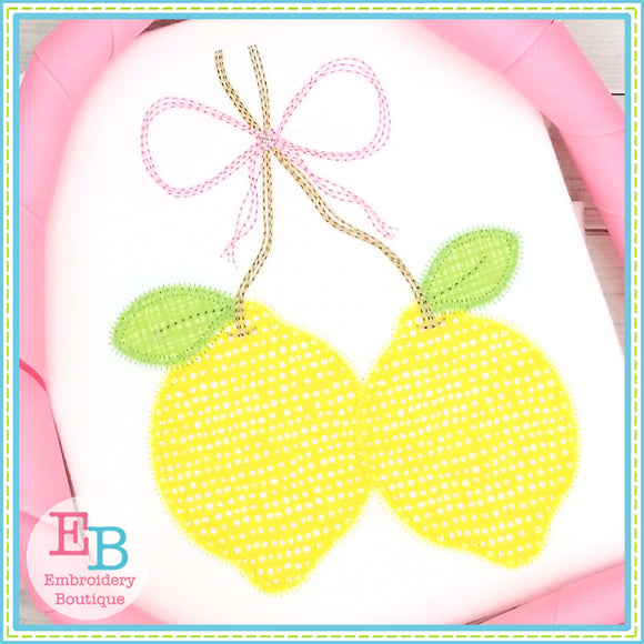Lemon Bunch Zigzag Applique
