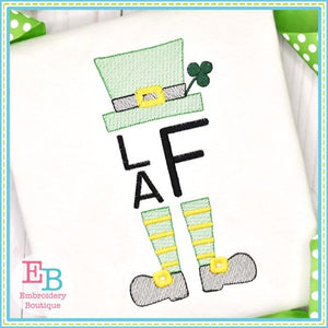 Leprechaun Hat and Legs Sketch - embroidery-boutique