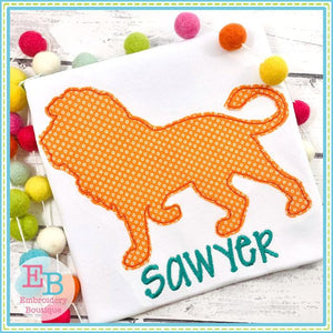 Lion Silhouette Applique, Applique