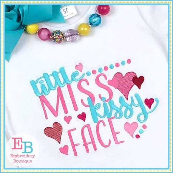 Little Miss Kissy Face Design - embroidery-boutique