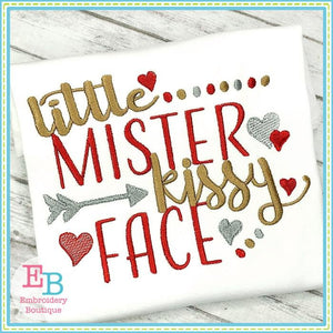 Little Mister Kissy Face Design - embroidery-boutique