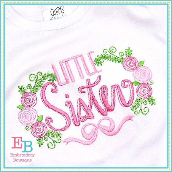 Little Sister Roses Embroidery Design