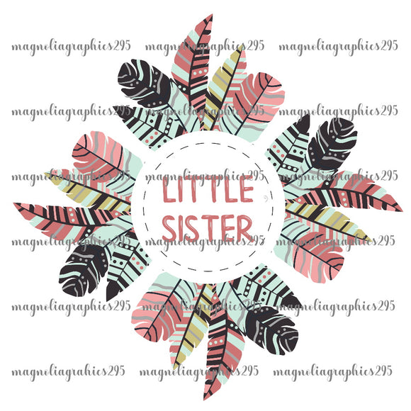 Little Sister Printable Design PNG-Embroidery Boutique