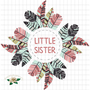 Little Sister Printable PNG Design