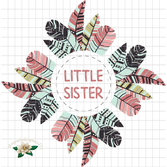 Little Sister Printable PNG Design - embroidery-boutique
