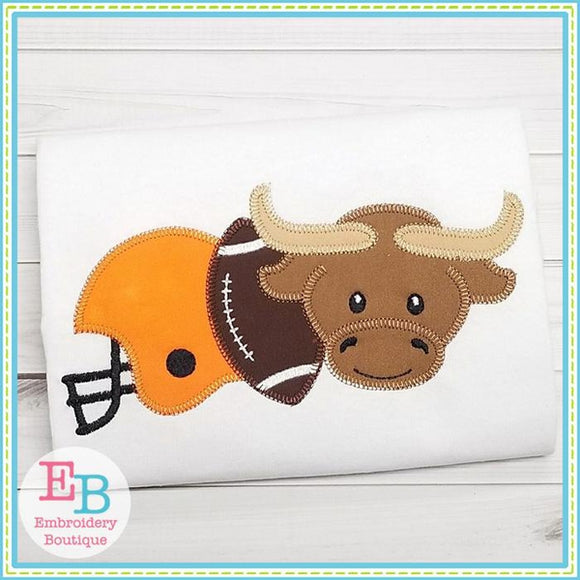 Longhorn Helmet Applique, Applique