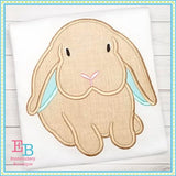 Boy Bunny Long Ears Applique