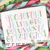 Love Rawr Sketch Stitch Embroidery Font, Digital Download