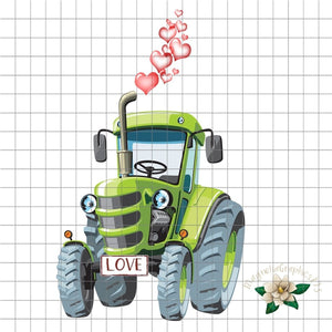 Valentine Tractor PNG Printable - embroidery-boutique
