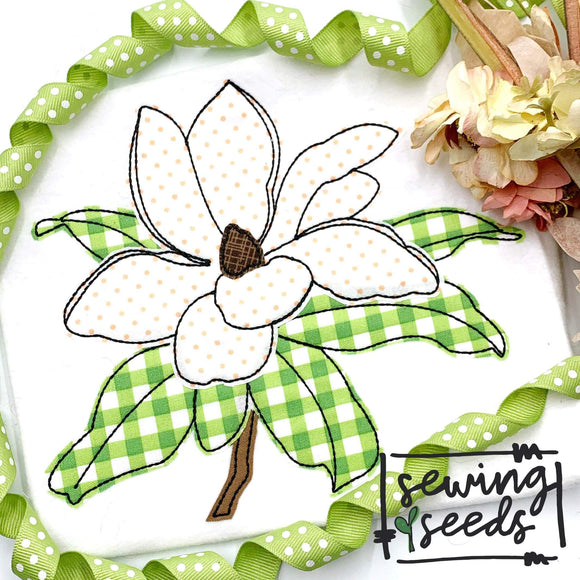 Magnolia Applique SS - Sewing Seeds