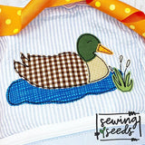 Mallard Duck Applique SS, Applique