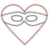 Heart Mask Zigzag, Applique