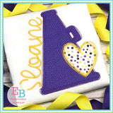 Megaphone Heart Applique