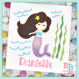 Mermaid Satin Applique-Embroidery Boutique