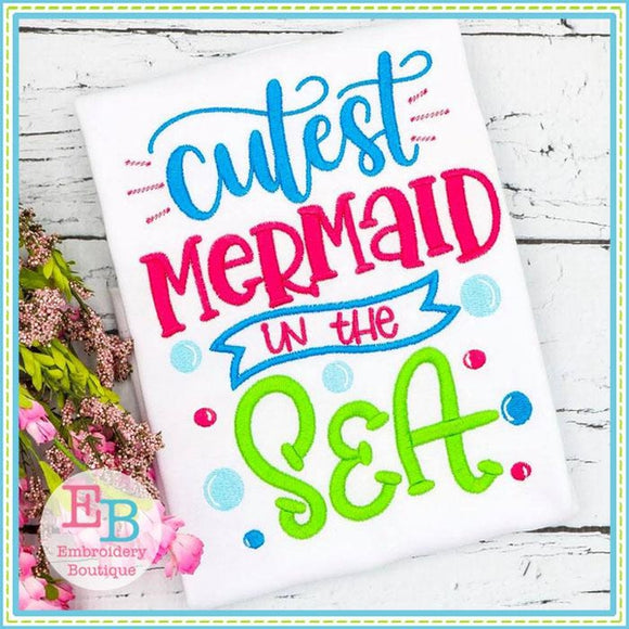 Mermaid In the Sea Design - Embroidery Boutique