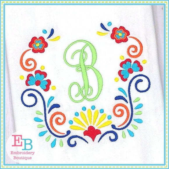Floral Frame 1 Embroidery Design