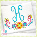 Floral Frame 3 Embroidery Design