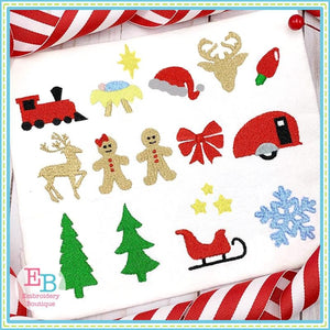 Christmas Minis Embroidery Bundle, Embroidery