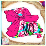 Big Bow Missouri Bean Stitch Applique, Applique